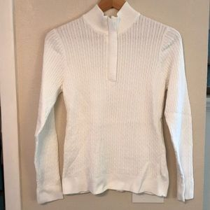 Croft & Barrow pullover white cable knit sweater